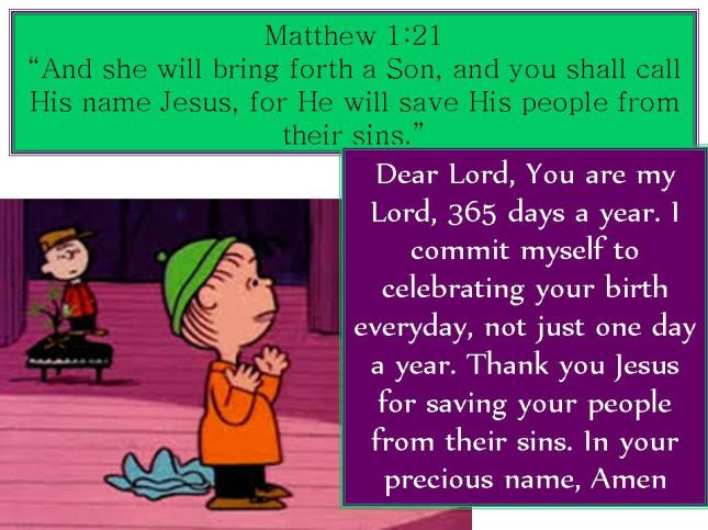 Charlie Brown & Jesus: Matthew 1:21