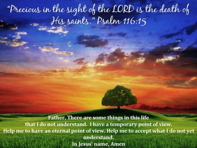 God's Point of View: Psalm 116:15