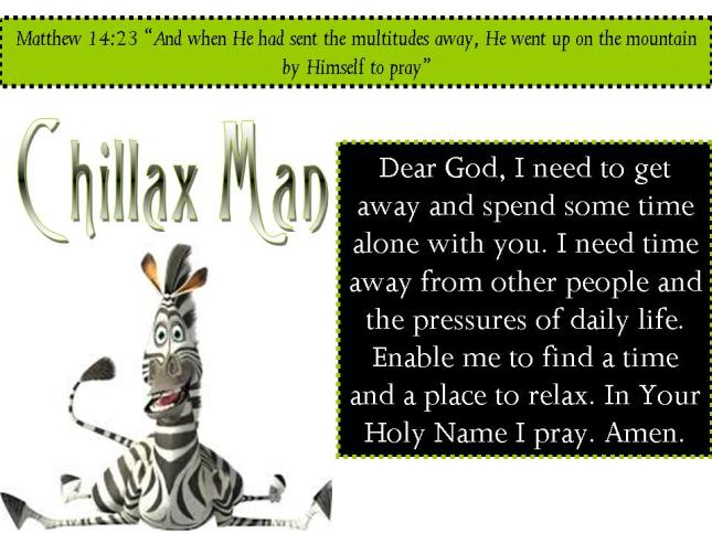 Chillaxing: Matthew 14:23