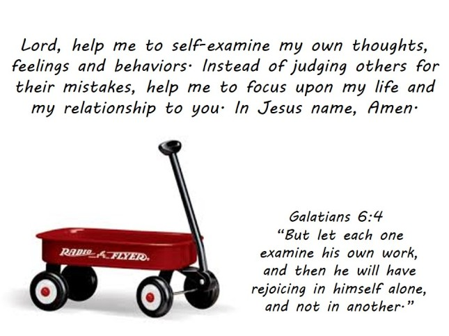 Pulling Your Own Little Red Wagon: Galatians 6:4