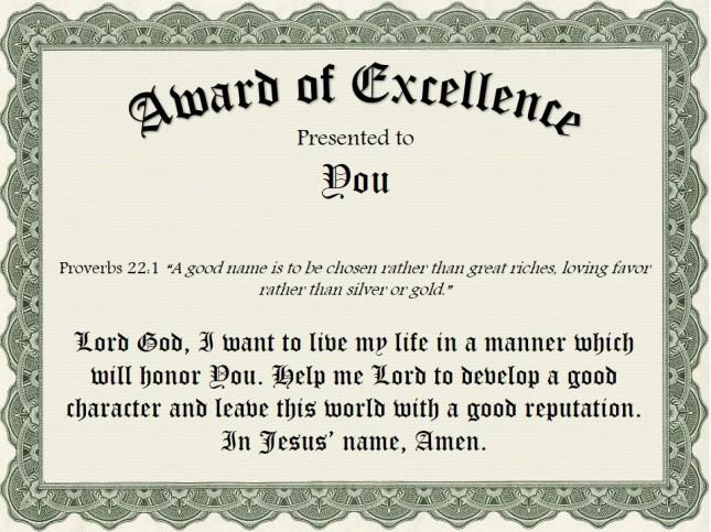 Life's Greatest Award
